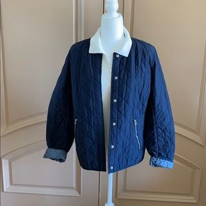GAP Navy Quilted Jacket Very Cute Medium Weight XL